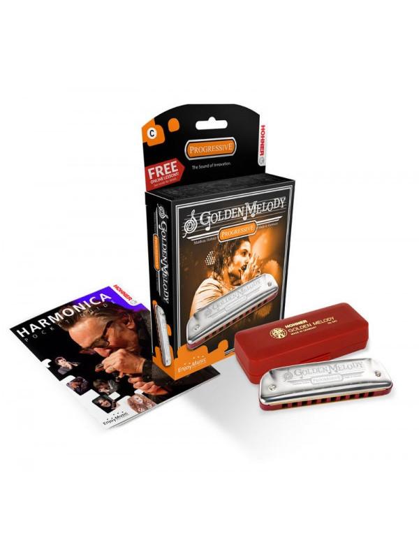 HOHNER Golden Melody 542/20 A (Доступ на 30 дней к бесплатным урокам) - Губная гармоника диатоническая Хонер