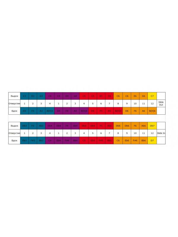 HOHNER Super 64C / 7583/64 C gold Губная гармоника хроматическая Хонер